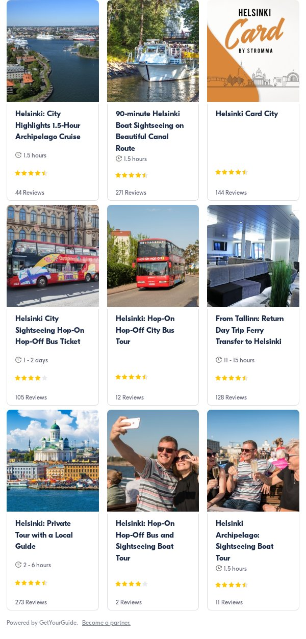 helsinki: Get Your Guide