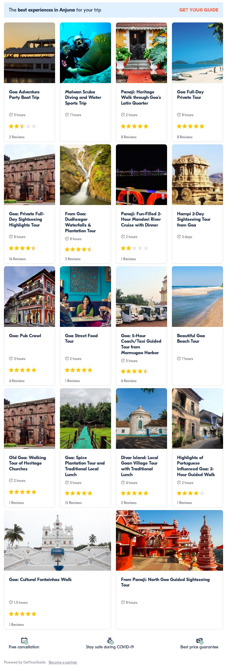 goa: Get Your Guide
