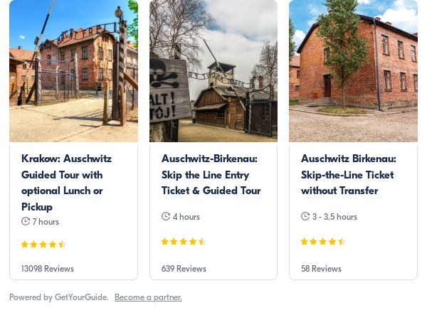 Auschwitz Krakow: Get Your Guide