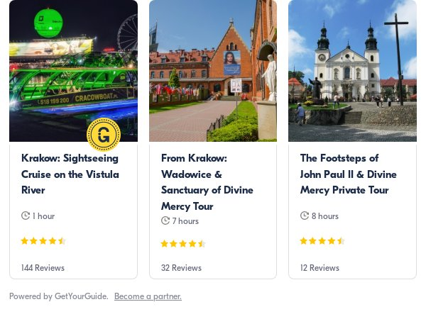 John Paul II Wadowice: Get Your Guide