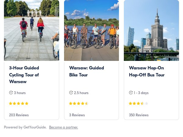 Warsaw bike: Get Your Guide