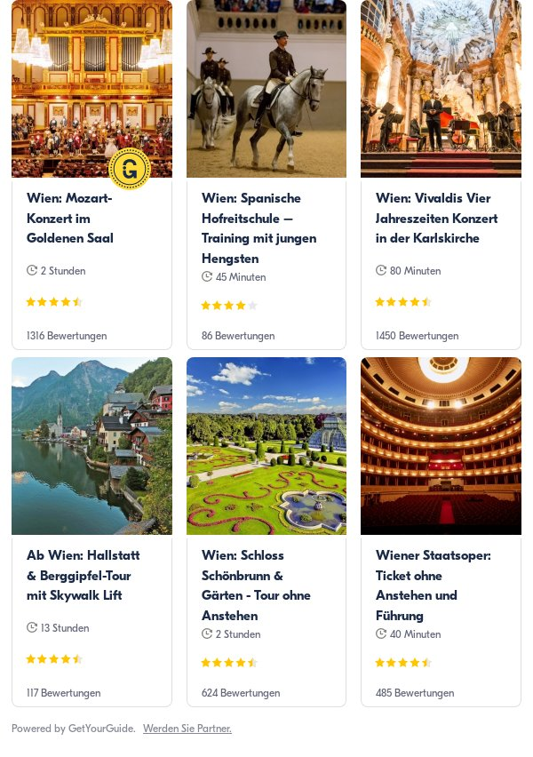 Wien: Get Your Guide