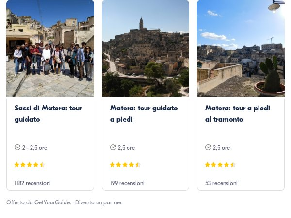 sassi Matera: Get Your Guide