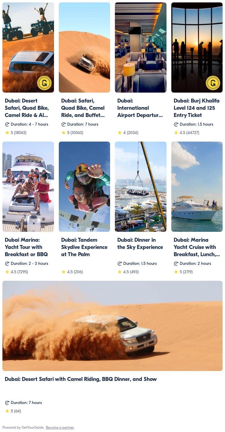 Dubai: Get Your Guide