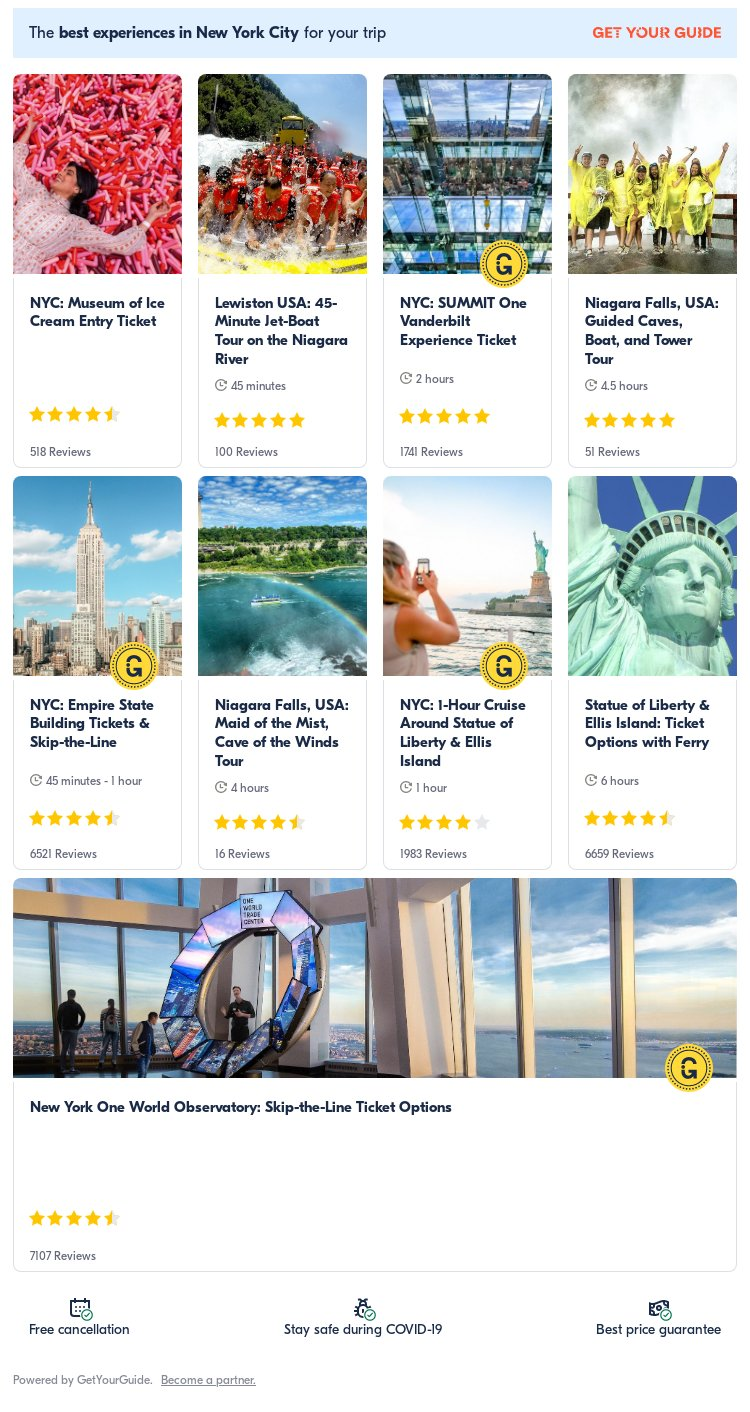 New York: Get Your Guide