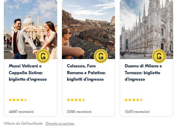 Italy: Get Your Guide