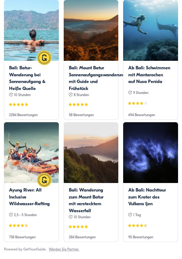 bali: Get Your Guide