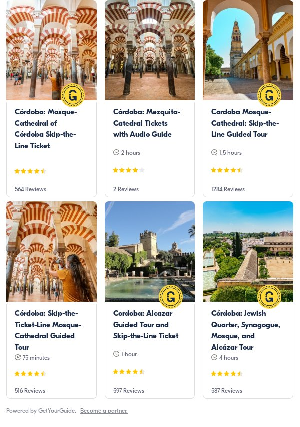cordoba: Get Your Guide