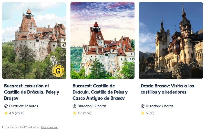 tours de Rumanía con Get Your Guide