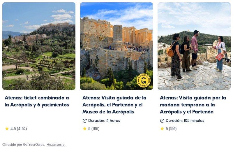 actividades en Atenas con Get Your Guide