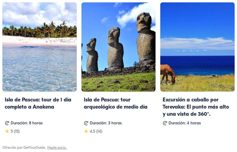 Isla de Pascua link a tours en Get Your Guide