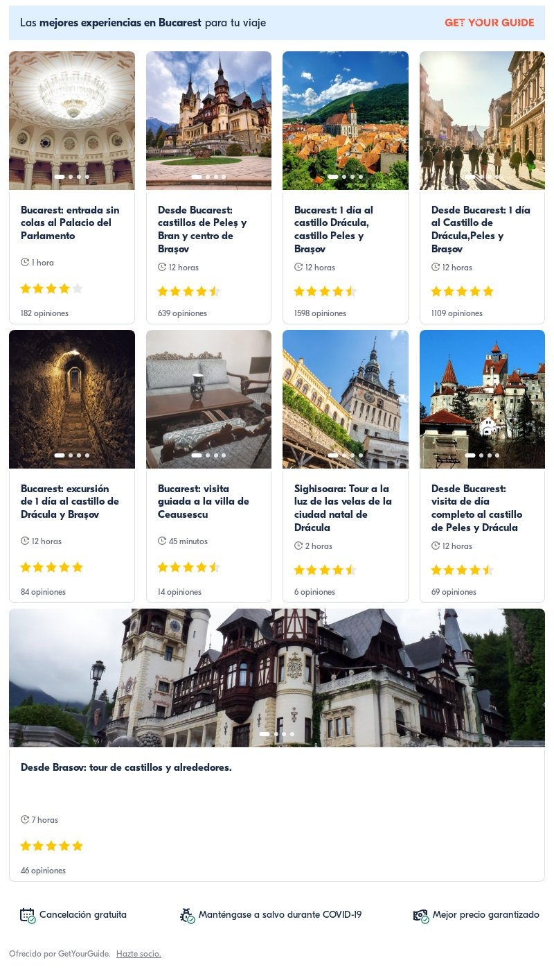 Rumania: Get Your Guide