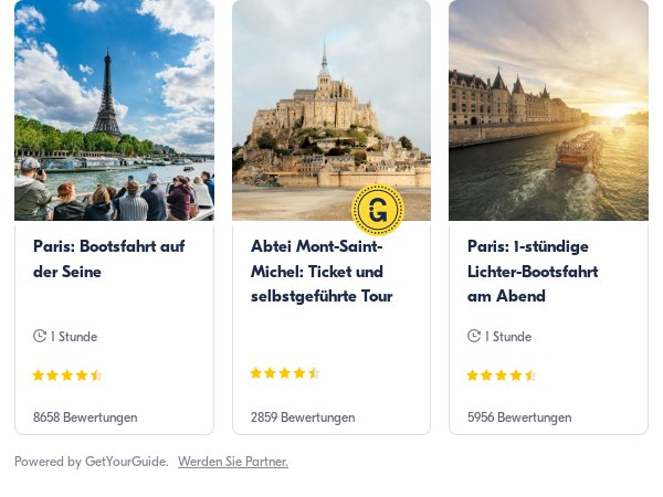 frankreich: Get Your Guide