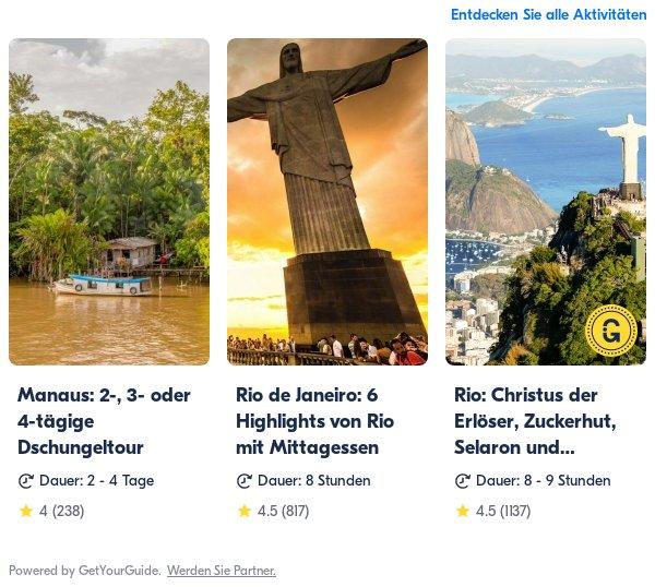 Brasilien: Get Your Guide