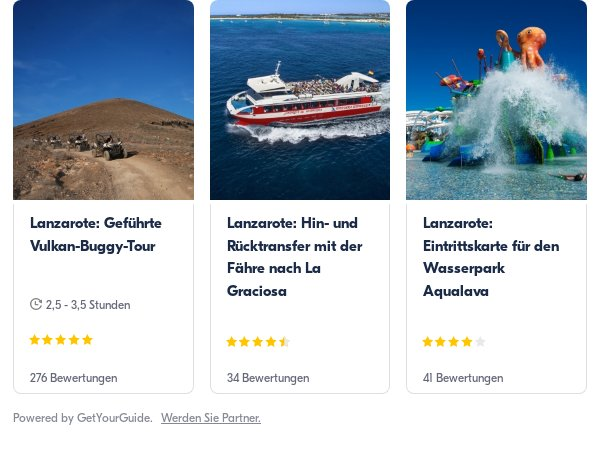 Lanzarote: Get Your Guide