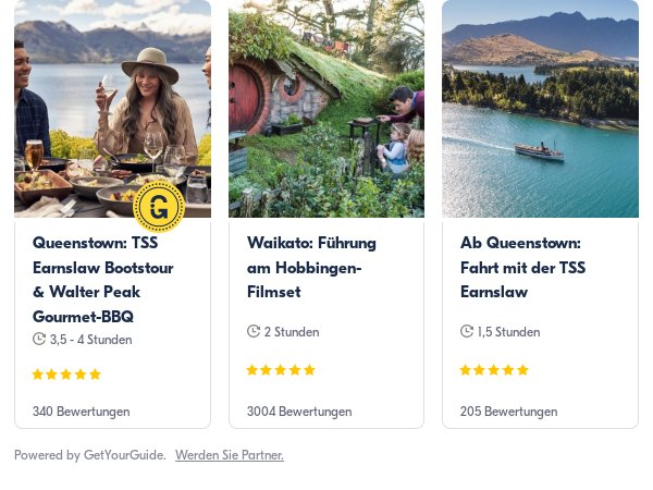 Neuseeland: Get Your Guide