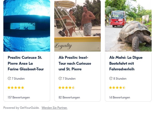 Seychellen: Get Your Guide