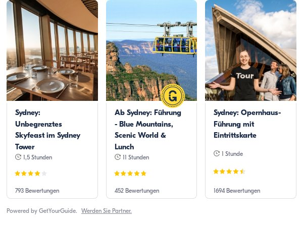 Sydney: Get Your Guide