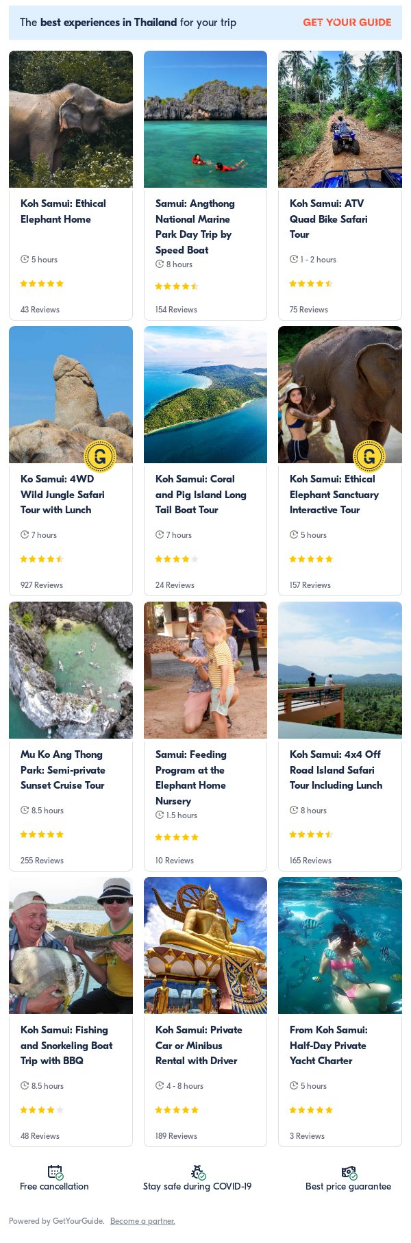 koh samui: Get Your Guide